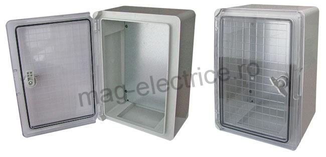 Panou electric din plastic IP65 500x350x190 cu usa transparenta