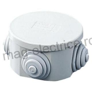 Doza aplicata rotunda 80mm IP44